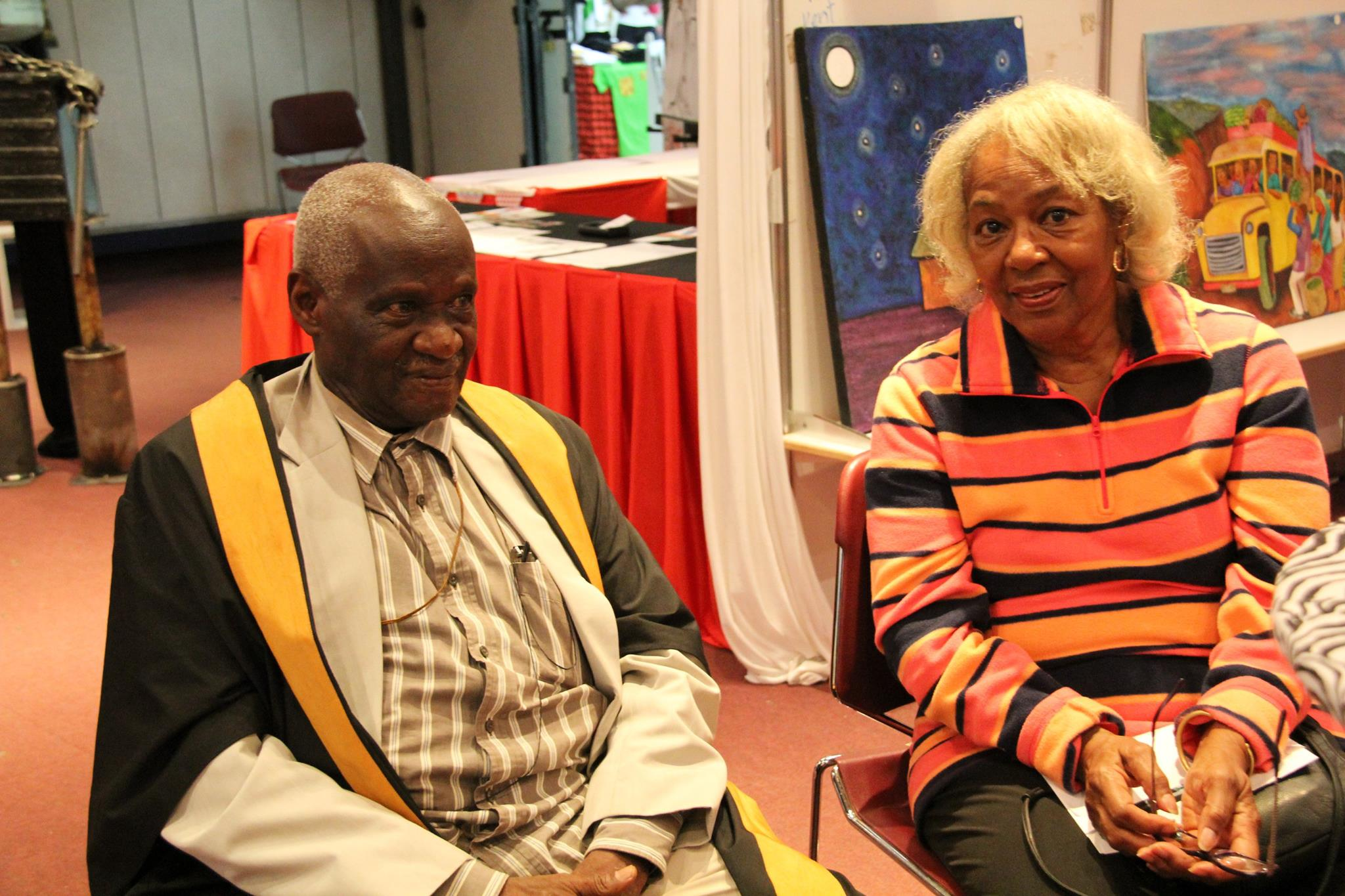 Elimo Njau and his lovely wife Philda